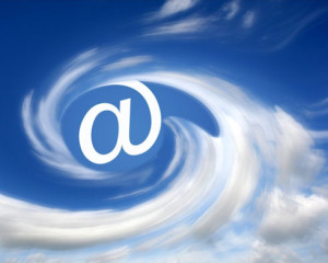 e-mail in clouds