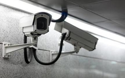 Video Cameras monitoring the underground pedestria